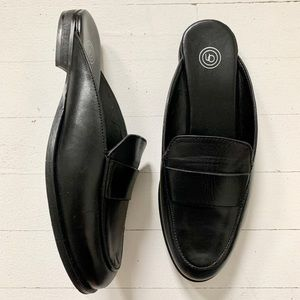 Leather Urban Outfitters Black Jules Loafer Slides